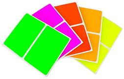 ChromaLabel 2 x 3 inch Name Tag Stickers | 5 Assorted Colors