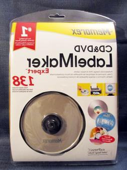 New Memorex CD & DVD Label Maker Expert Kit 138 Labels in Pa