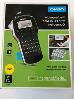New DYMO LabelManager 280 Label Maker Rechargeable with PC o