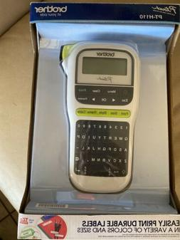 NEW: Brother PT-H110 Portable Thermal Label Maker - White