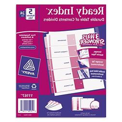 Avery Ready Index Table/Contents Dividers AVE11167