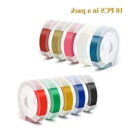 Replacement 3D Embossing Labels Tape Compatible with Dymo Em