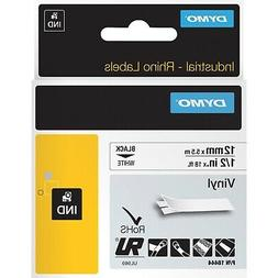 "DYMO Rhino Permanent Vinyl Industrial Label Tape 1/2"" x 18 f"