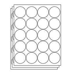 OfficeSmartLabels Round Circle Dot 2 inch Diameter Stickers