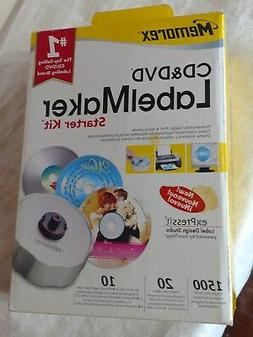 Sealed Brand New Memorex CD & DVD Label Maker Starter Kit NO