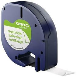 Dymo Self-Adhesive Paper Tape for LetraTag Label Makers, 4 P