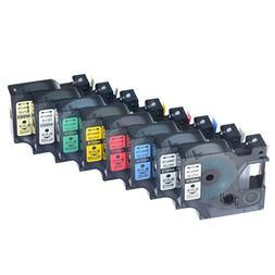 Nineleaf 8 Pack Set Black on Clear/White/Blue/Red/Yellow/Gre