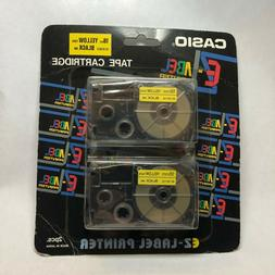 Casio Tape Cassettes for KL Label Makers 18mm x 26ft Black o