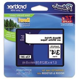 3 Pack TZe Standard Adhesive Laminated Labeling Tape, 3/4w,