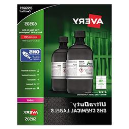 Avery UltraDuty GHS Chemical Labels for Laser Printers, Wate