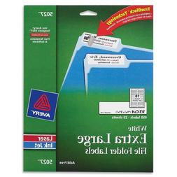 Avery White Extra-Large File Folder Labels for Laser and Ink